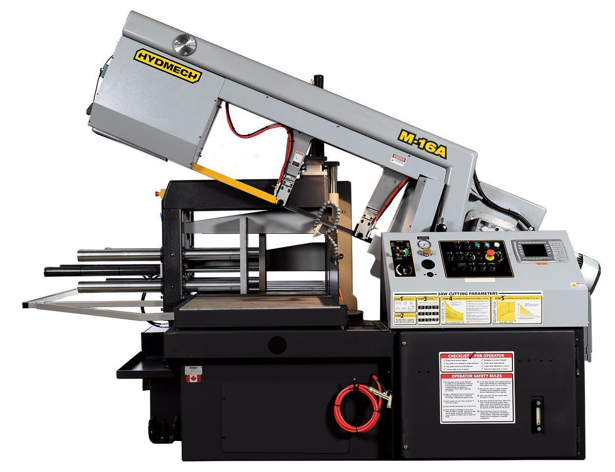 "NEW 16""H x 25""W HYD-MECH MODEL M-16A AUTOMATIC HORIZONTAL PIVOT BAND SAW"