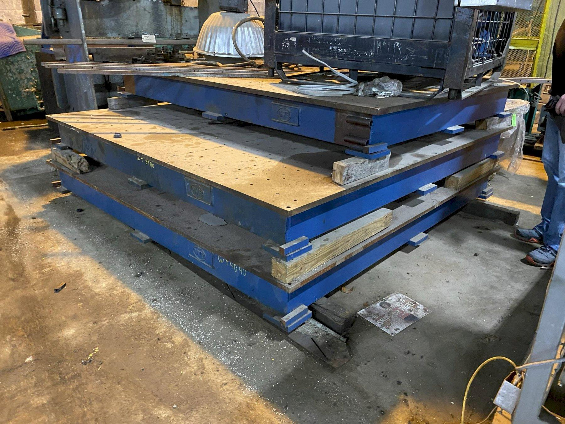 USED 8' X 8' STEEL SURFACE PLATE, Stock# 10865