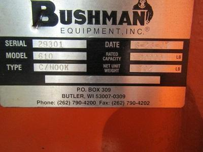 10 Ton Bushman C-Hook With Stand   Our stock number: 114553