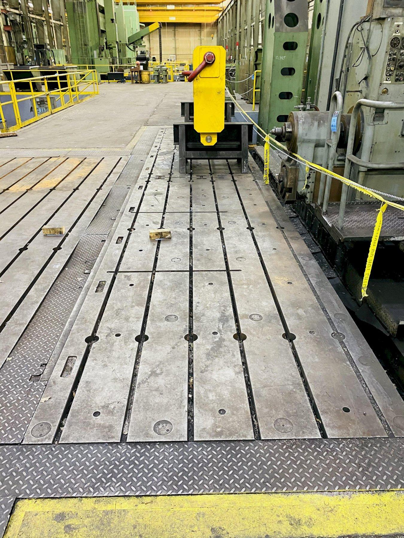 """72"""" X 360""""  X 12"""" GIDDINGS & LEWIS T SLOTTED FLOOR PLATES. STOCK # 0310221"""