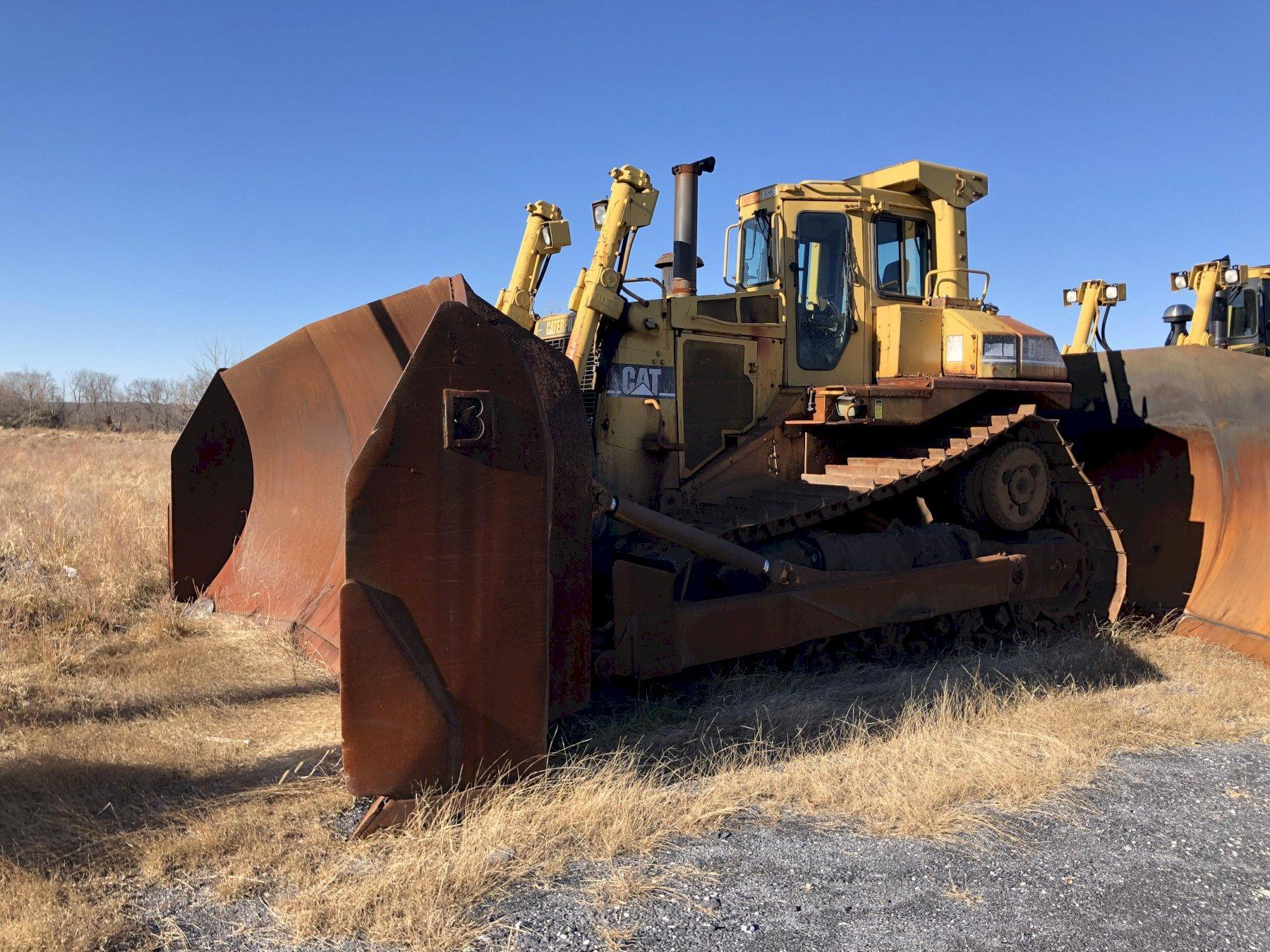 Caterpillar model d9n track mounted bulldozer s/n 6xj00639 with balderson 3wl model bd9u19 blade s/n 15470, 3408 engine s/n 48w36550, 14846 hours