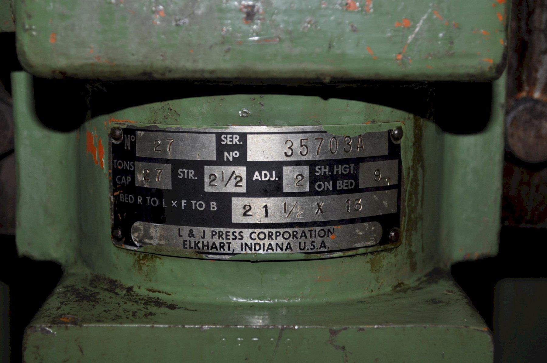 27 Ton L & J OBI PRESS