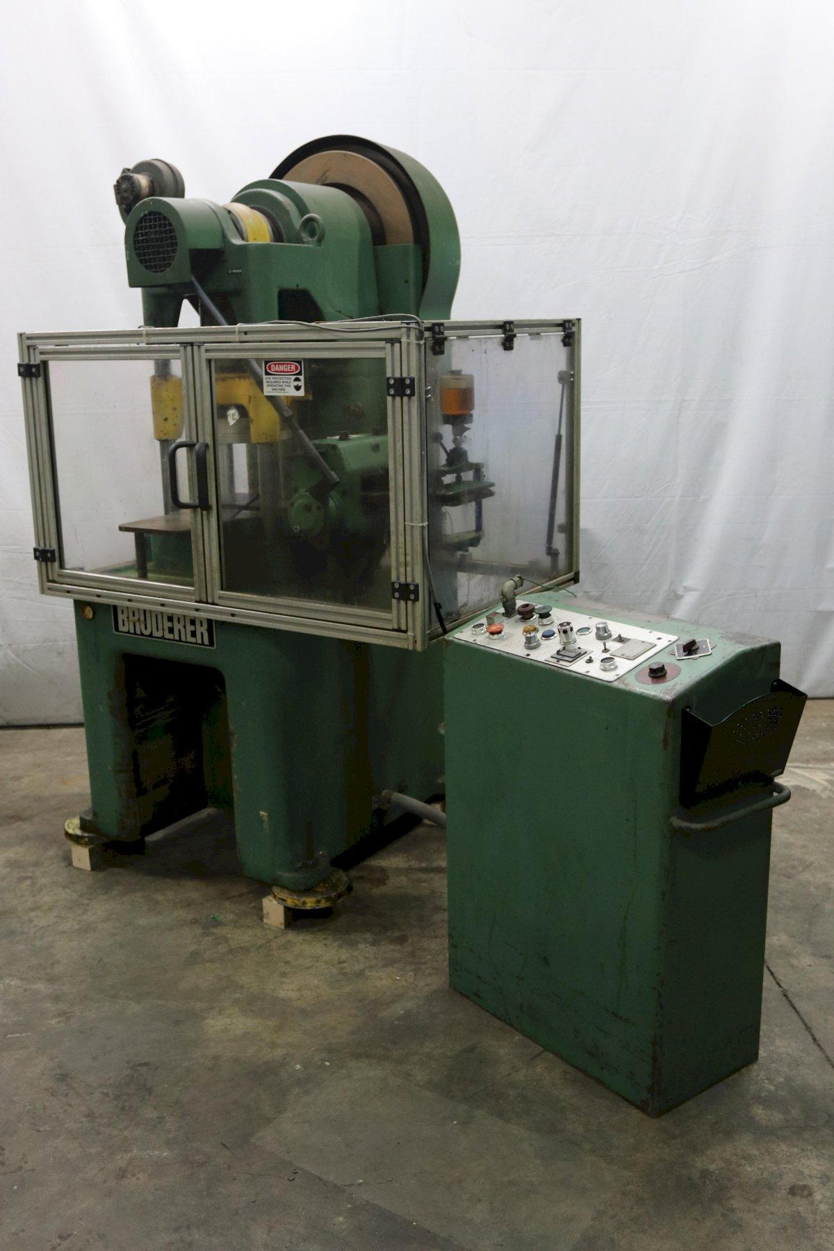 30 TON BRUDERER BSTA-30 HIGH SPEED PRESS: STOCK #12099