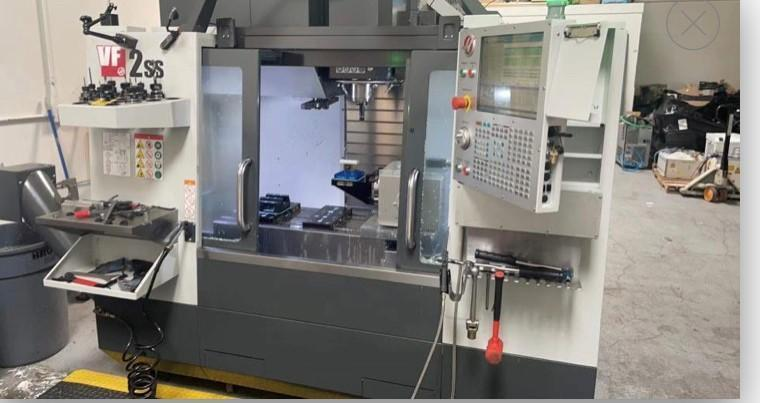 """Haas VF2SS CNC Vertical Machining Center, 12K Spindle, 30""""/16""""/20"""" Travels, 30 HP, Low Hours"""