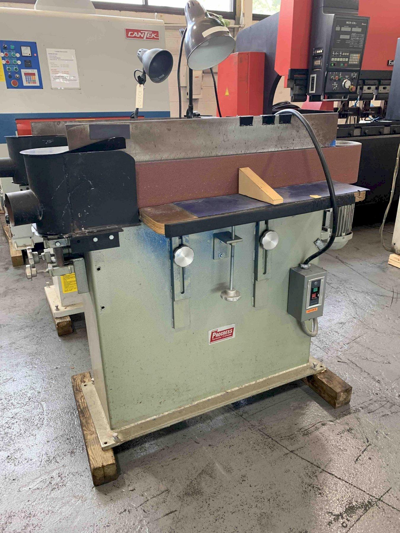 "USED PROGRESS MACHINE 6"" x 108"" EDGE SANDING MACHINE FOR WOOD, Stock # 10763"