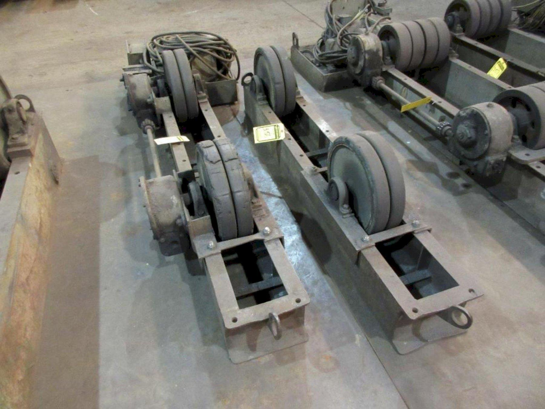 6 TON/12,000 LBS WEBB POWERED TANK TURNING ROLL SET. STOCK # 0519421