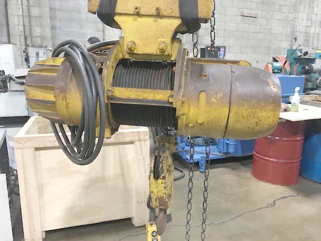 1/2 TON 20' ABELL-HOWE WALL MOUNT JIB CRANE with P&H Cable Hoist.