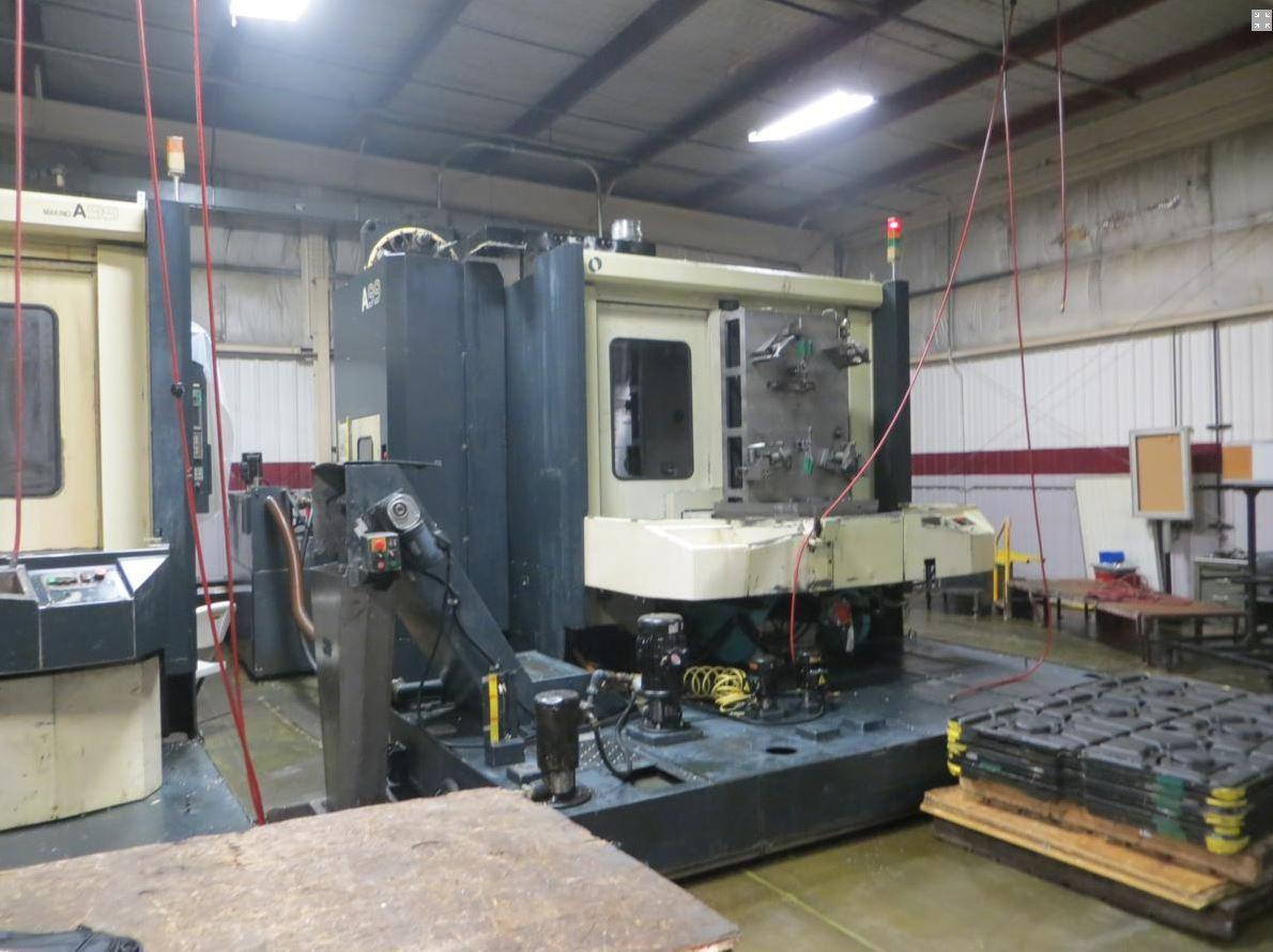 "Makino A-99 CNC Horizontal Machining Center, Fanuc Pro 3 Control, 31.5"" Pallets, 12K RPM Spindle, CAT 50 Taper, 40 ATC, CTS, 40 Horsepower,  Full 4th Axis Contouring, 2000"