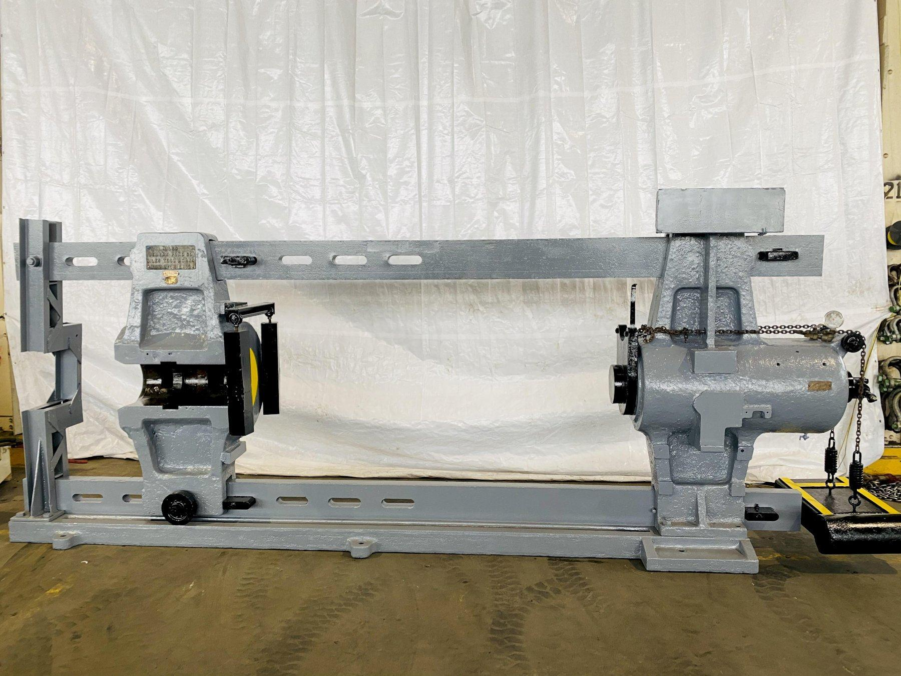 400 Ton x 12' Niles Hydraulic Horizontal Wheel Press