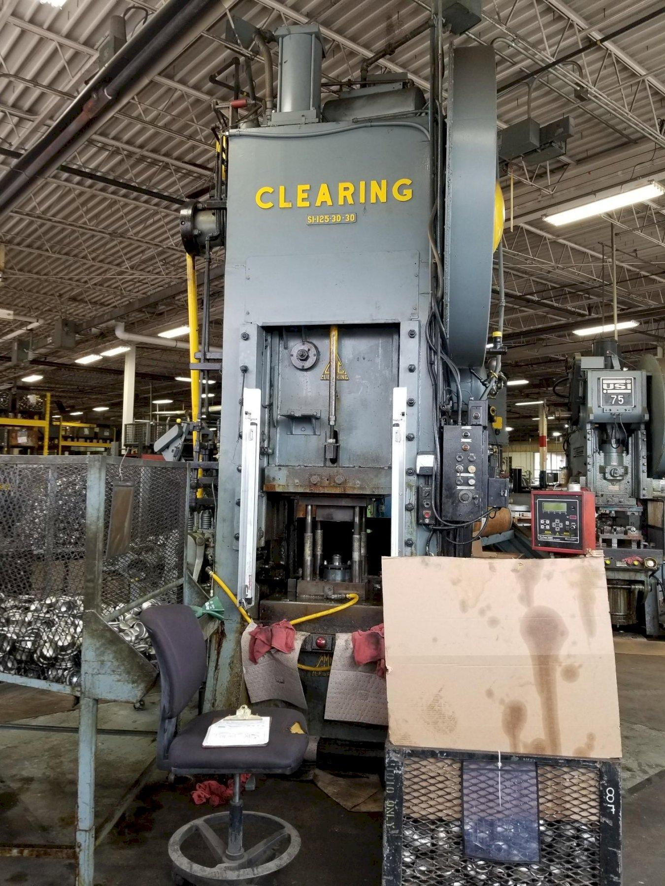 125 TON CLEARING MODEL #S1-125-30-30 SSSC PRESS: STOCK 14114