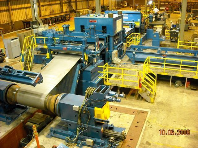 """75"""" x 1/2"""" x 80,000# Braner Cut-To-Length Line with Cassette Leveler"""