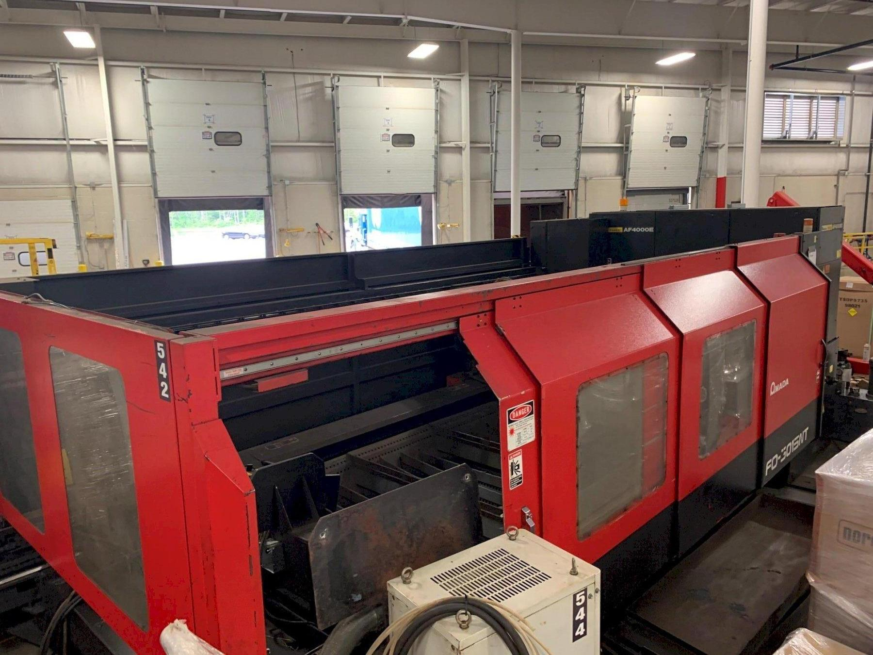 "4000 Watt x 60"" x 120"" AMADA LASER CUTTING CELL WITH SHUTTLE TABLE: STOCK 13180"