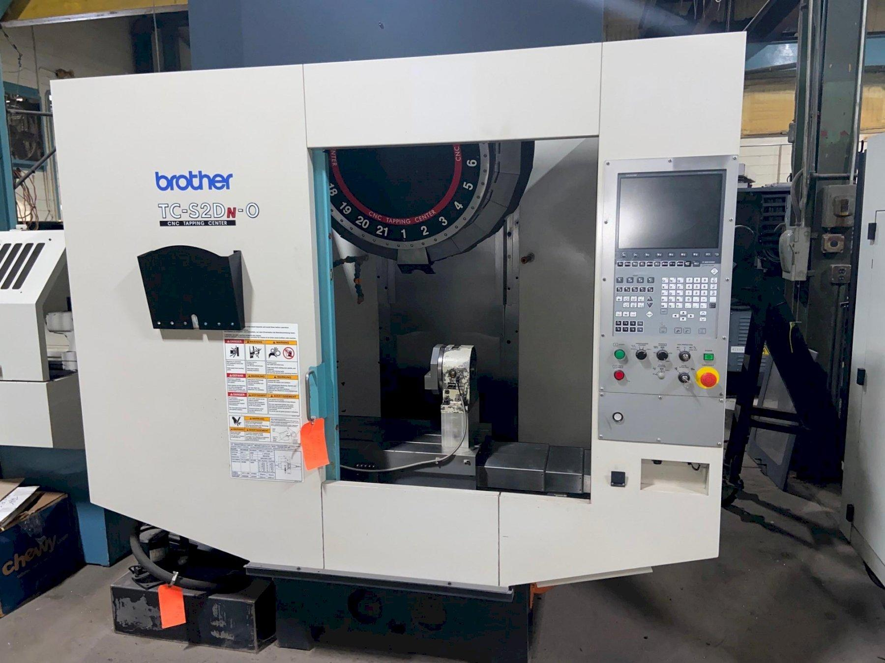 "Brother TC-2SDN-O CNC Drilling & Tapping Center, B00 Control, 27.6""/15.7""/11.6"" Travels, 10K RPM, 21 ATC, 30 Taper, 6"" Rotary Table, Clnt, 2013"