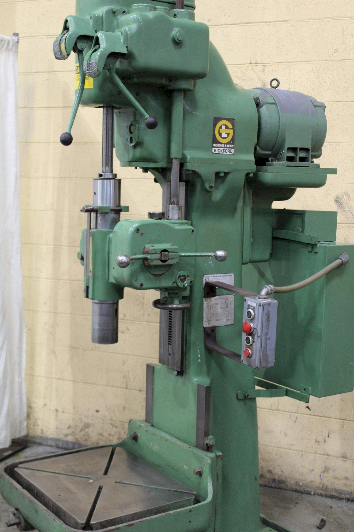 24' GIDDING & LEWIS SINGLE SPINDLE DRILL: STOCK #71890