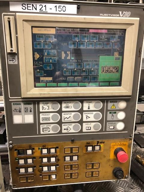 Toshiba Used ISG150N Injection Molding Machine, 150 US ton, Yr. 1999, 8.1 oz
