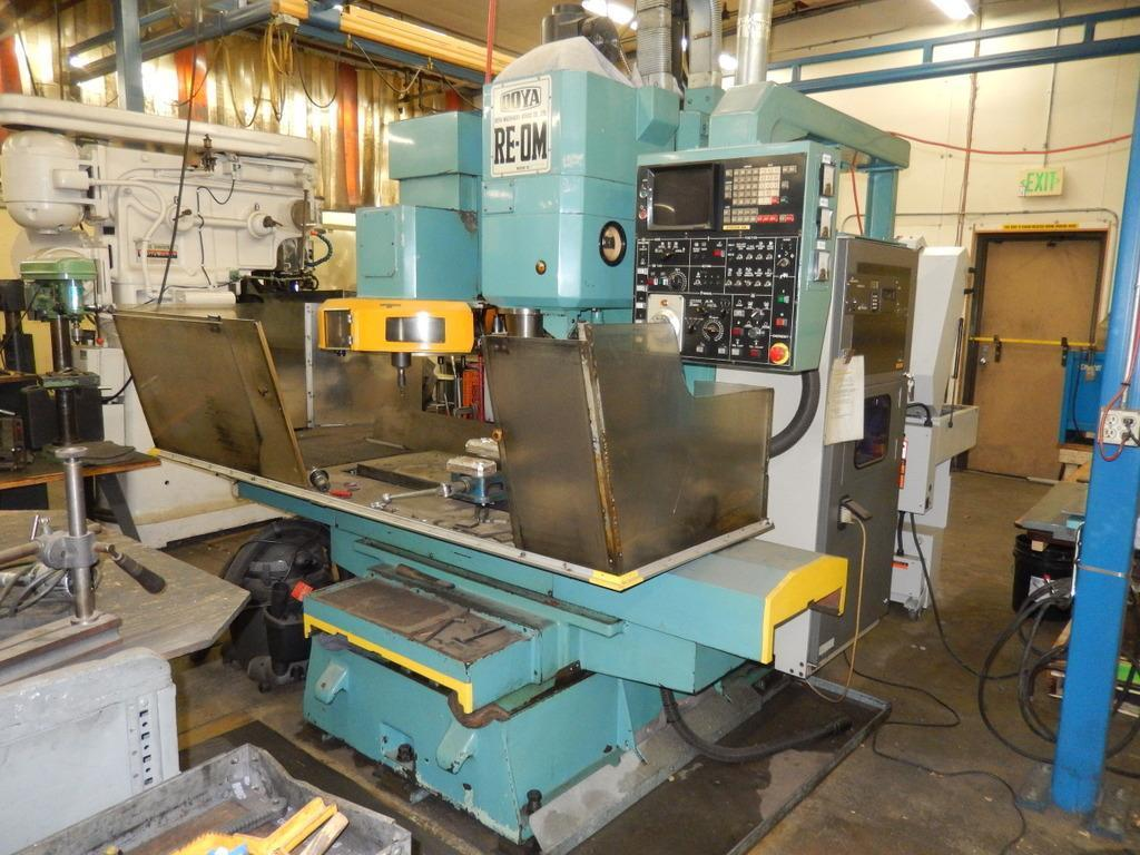 OOYA 0M MACHINING CENTER WITH FANUC 6MB CONTROLS: STOCK #12965