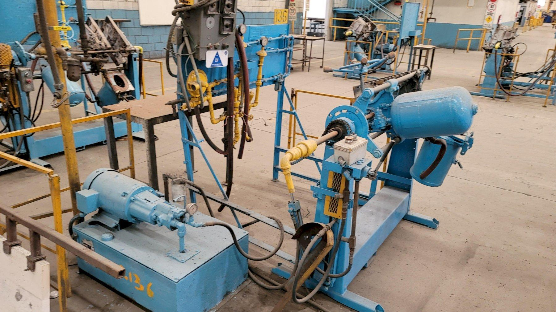 Dependable model 200sa shell core machine s/n 923 with gas panel and hydraulic