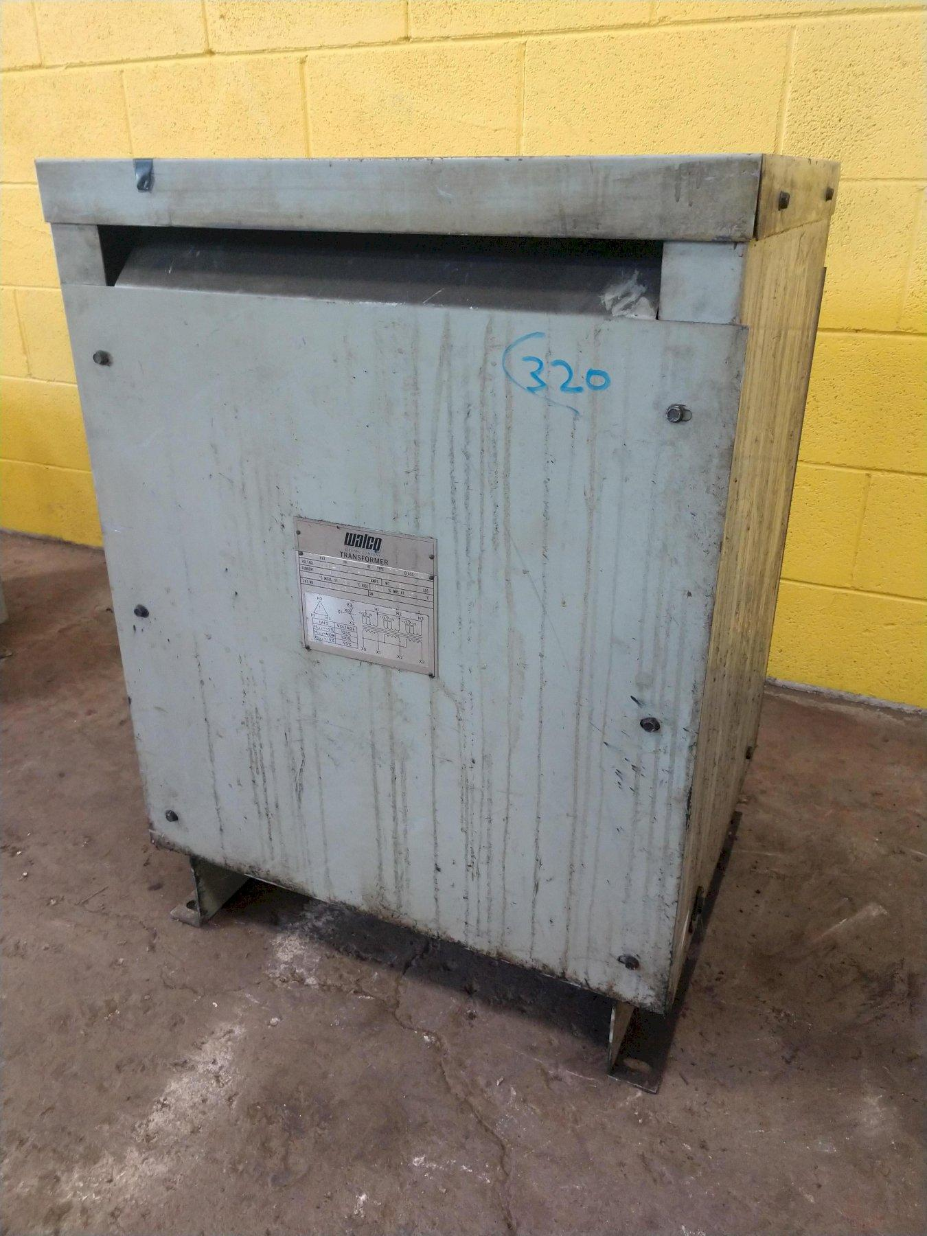 20 KVA WALCO 460 TO 230Y/133 VOLT ELECTRICAL TRANSFORMER: STOCK #11923