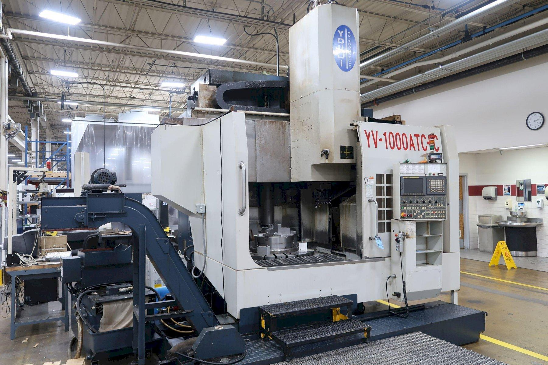 "You Ji YV1000ATC+C CNC Vertical Lathe w/Milling, Fanuc 18i-TC, 20"" Chuck, 39.4"" Table Dia, 53"" Swing, 50 Taper, C-Axis, 16 ATC, Gearbox, Chiller, 2008"