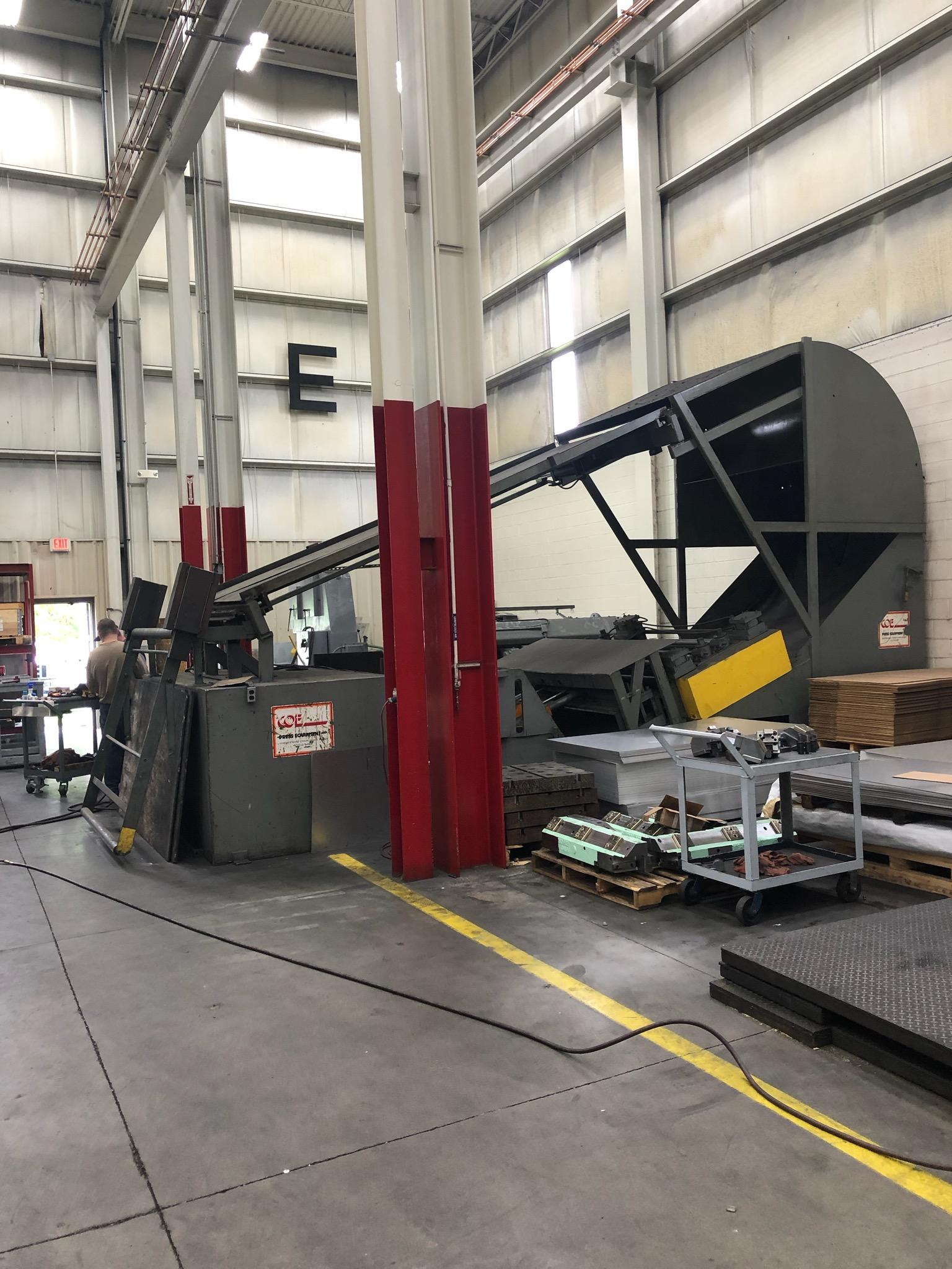 Coe Press Coil Cradle - Straightener Combination 20,000 Lbs. x 72