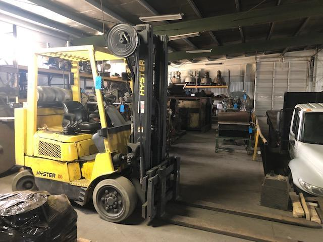 "HYSTER MODEL S80XM BCS L/P POWERED FORK LIFT TRUCK S/N F004503517C, 6550#, 145"" LIFT, SIDE SHIFTER, 1699.7 hours, 6' forks"