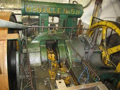 """3/4"""" MANVILLE Mdl# 5B OPEN DIE DOUBLE STROKE MAGAZINE FEED ROD HEADER   Our stock number: 112963"""
