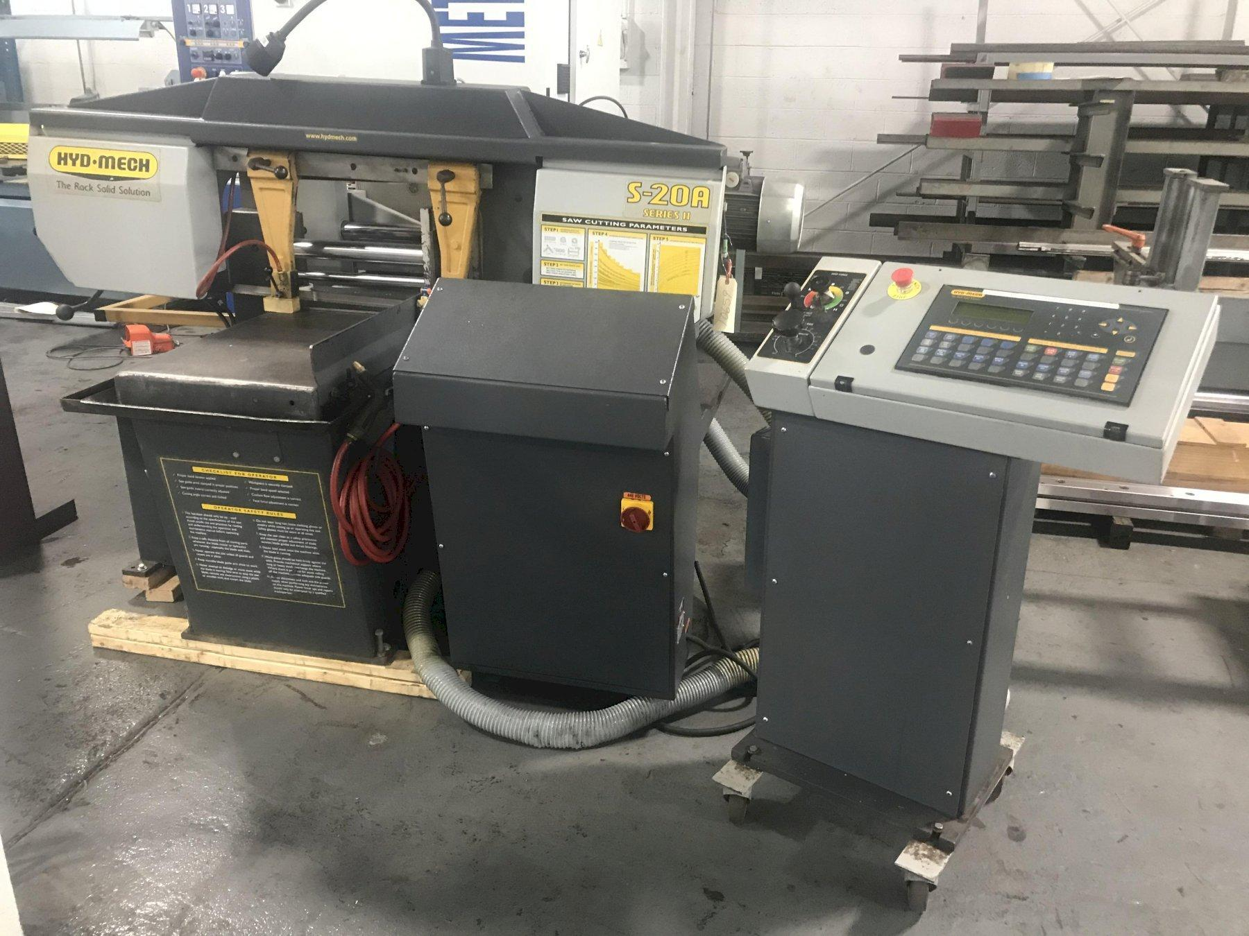 USED HYD-MECH MODEL S-20A SERIES II FULLY AUTOMATIC MITERING BANDSAW, STOCK# 10659, YEAR: 2005