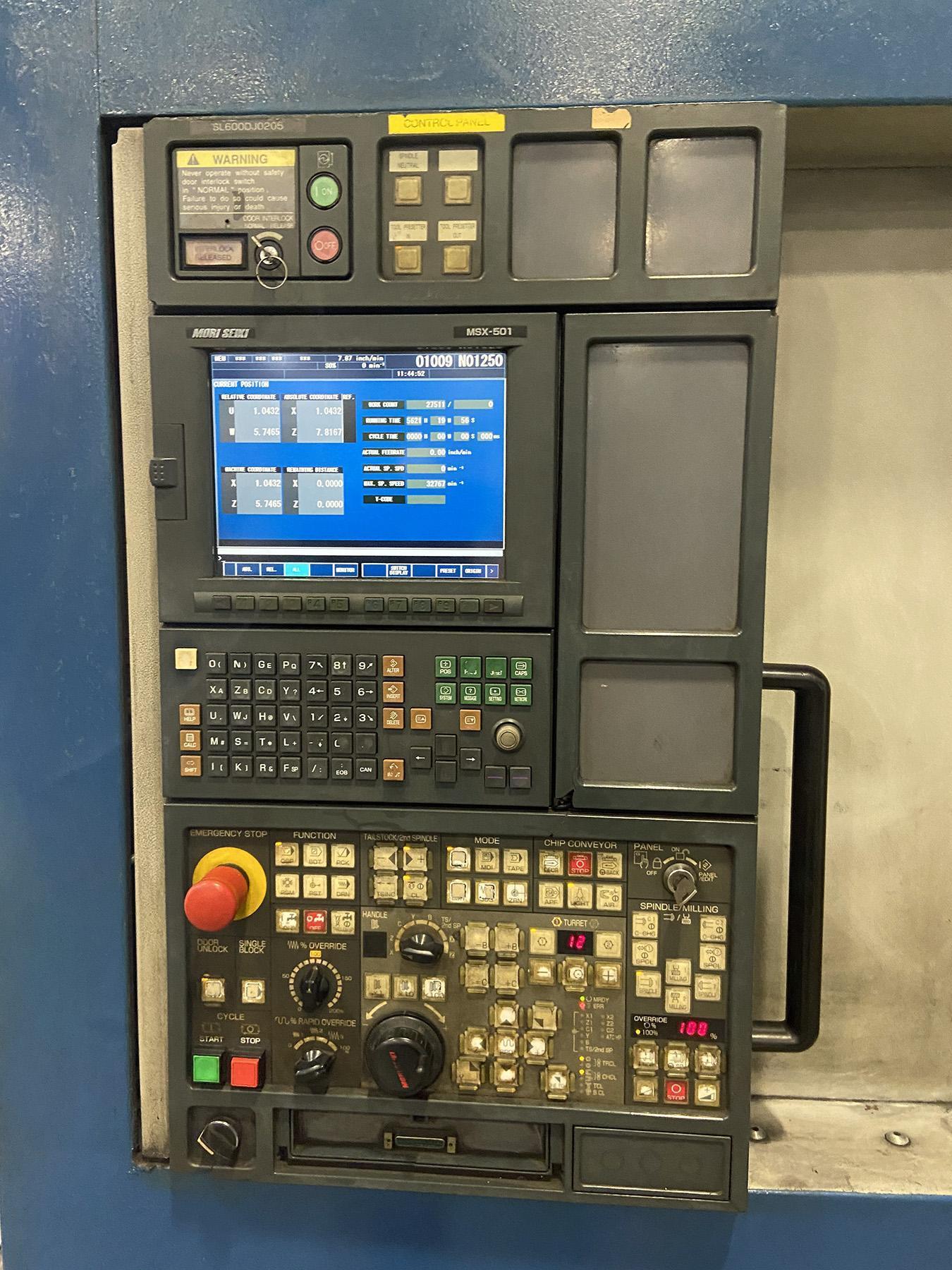 USED, MORI SEIKI SL-603C/1000 CNC LATHE