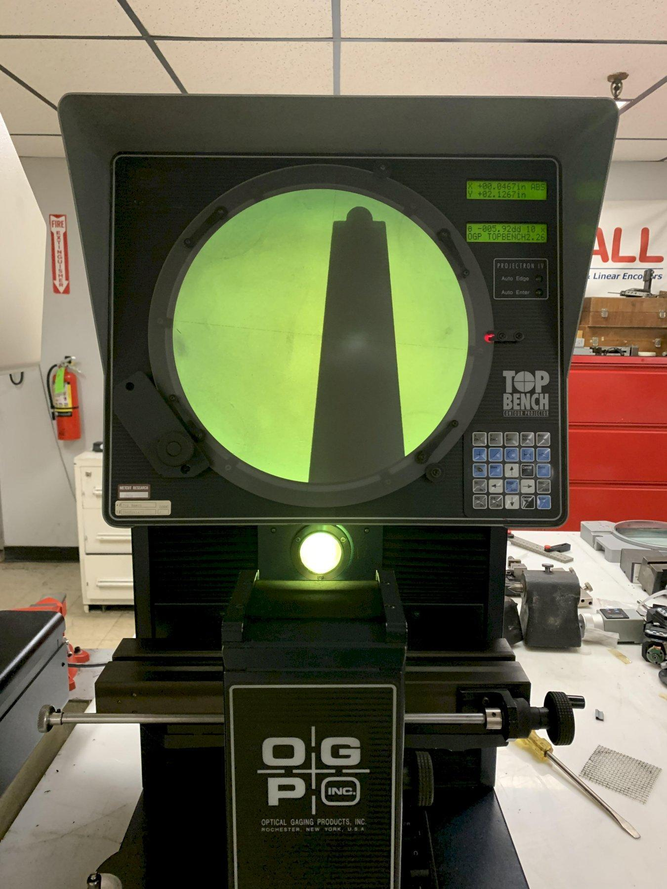 "14"" OGP TB14 ""Top Bench"" Optical Comparator, S/N TB08061472."