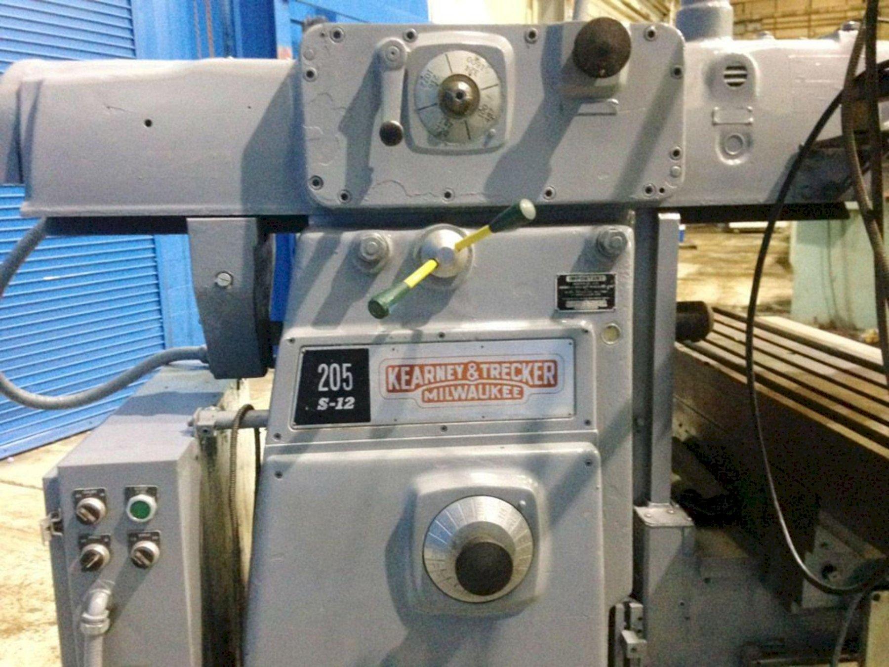 "12"" X 56"" KEARNEY & TRECKER MODEL 205 S-12 HORIZONTAL/VERTICAL MILLING MACHINE. STOCK # 0738021"