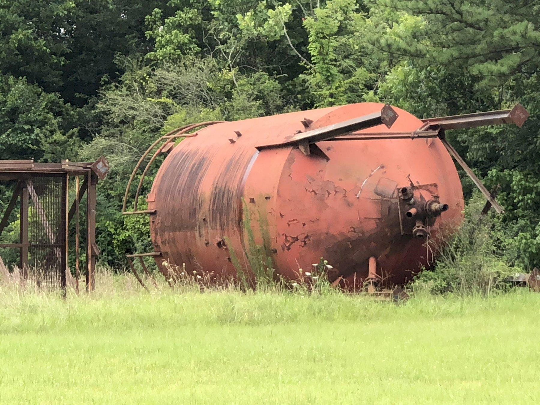 2- SAND SILOS AND SUPPORTS IN YARD PRICED EACH