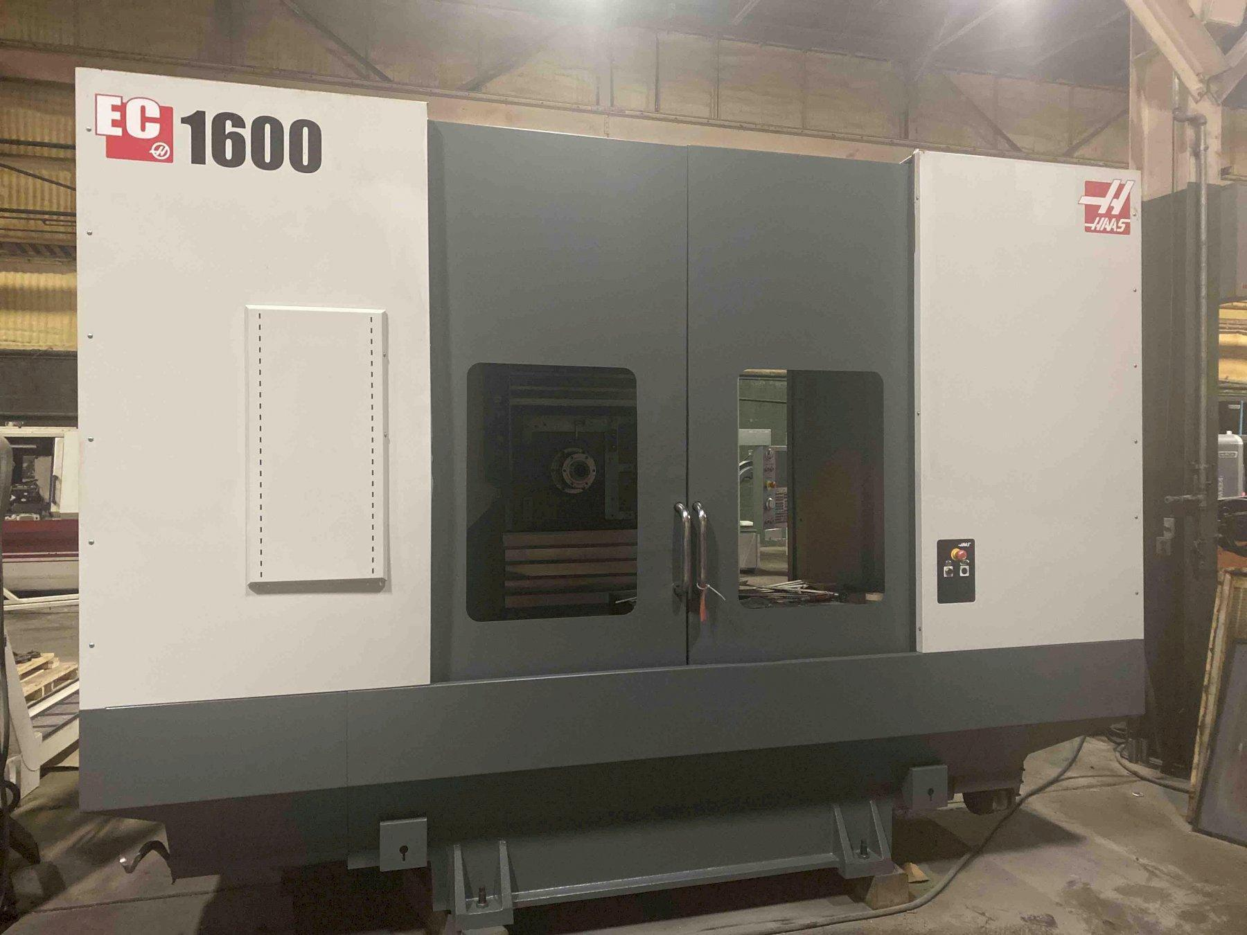 "Haas EC16004X CNC Horizontal Machining Center, 64""/50""/32"" travels, 7500 RPM, CTS, 50 Taper, 30"" Built In Rotary, ATLM, Geared Head, Macros, 2014"