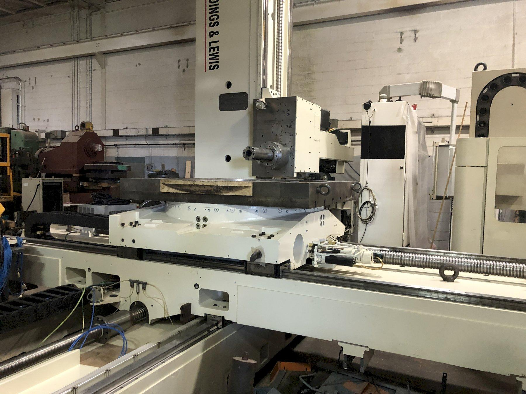 "GIDDINGS AND LEWIS RT-1250 6.1"" CNC HORIZONTAL BORING MILL w/Siemens 840D Control, Full 4th Axis Rotary, 142""/83""/49""/59"" Travel, 50 Taper, 90 ATC, 2007"