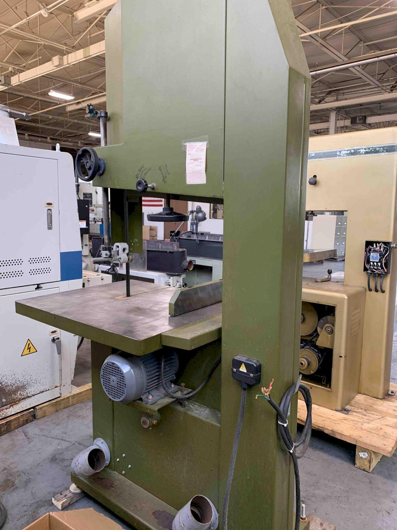 """USED MEBER 32"""" VERTICAL WOODWORKING BANDSAW / RESAW, Year 1990, Stock # 10762"""