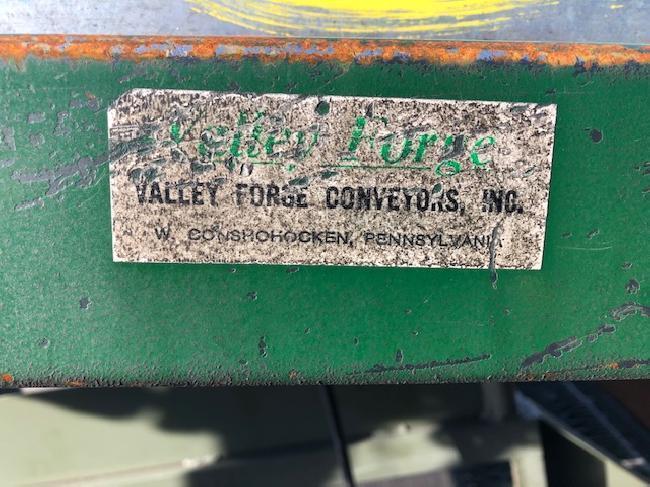 13′ x 12.6″ VALLEY FORGE MOTORIZED CONVEYOR