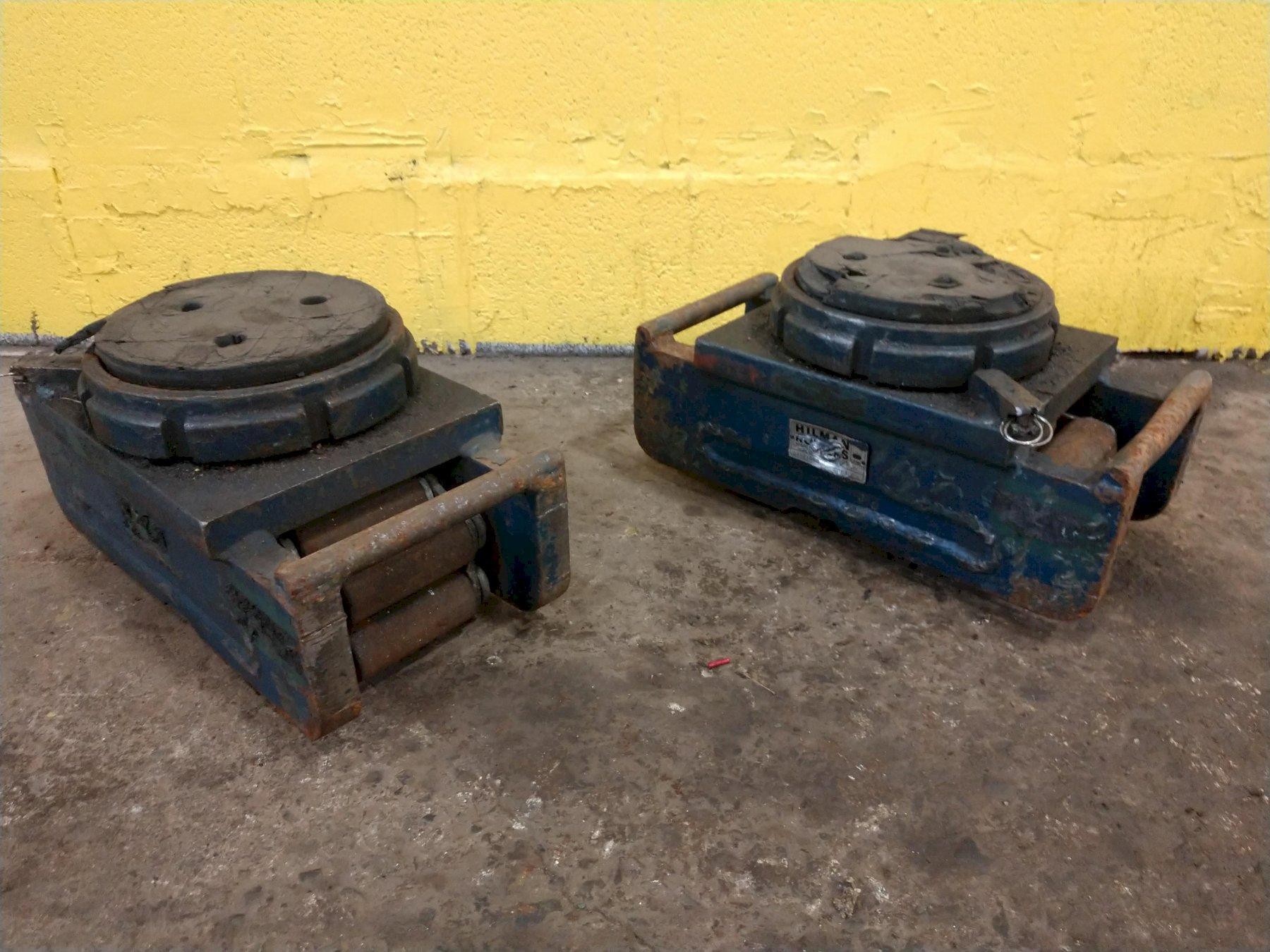 (2) 10 TON HILMAN ROLLERS MODEL #N10-SLP MACHINERY MOVING SKATES: STOCK 12993