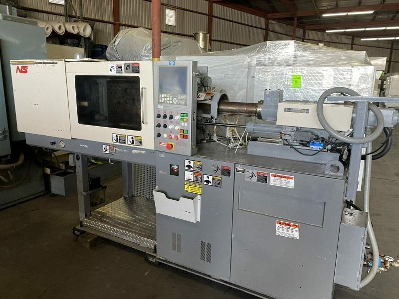 Nissei Used NS40-5A Injection Molding Machine, 44 US ton, Yr. 2003, 1.2 oz.