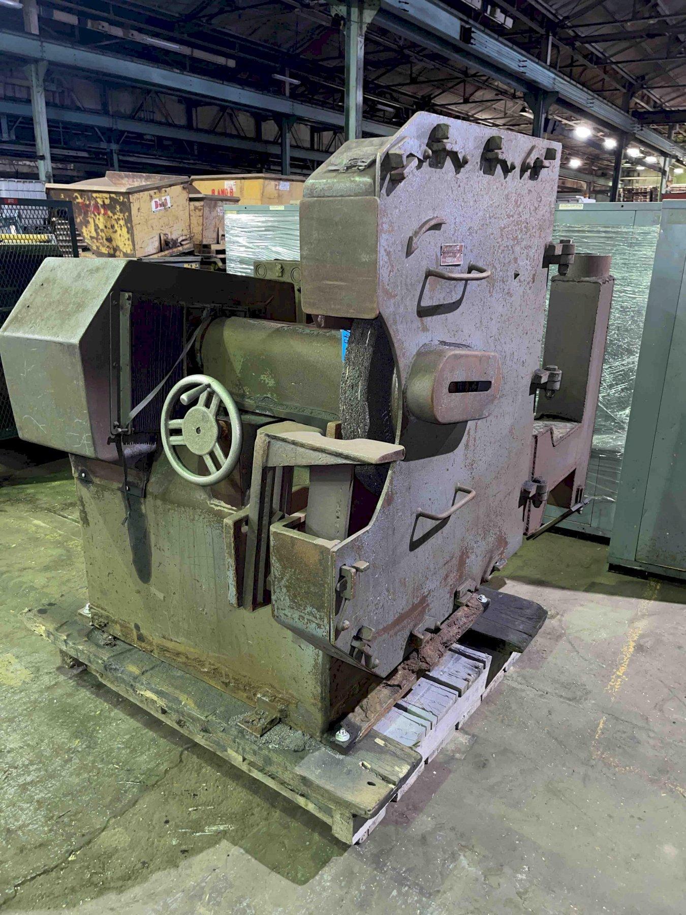 Cincinnati model 926-515-8 single end snag grinder with safety guard, 15 hp