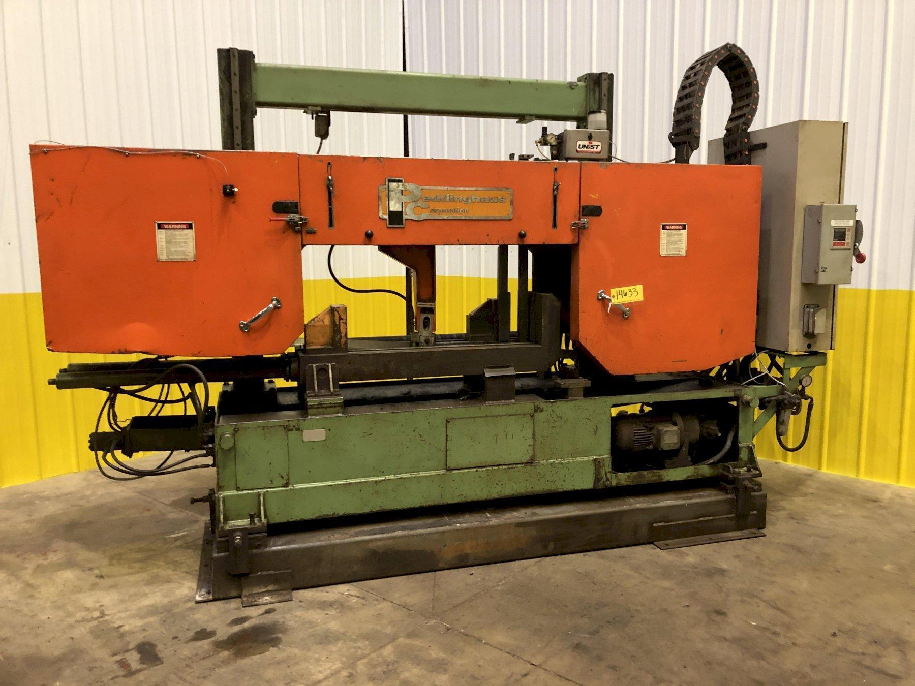 2003 CONTROLLED AUTOMATION MODEL #BFC-530 BEAM PUNCH LINE WITH PEDDINGHAUS SAW
