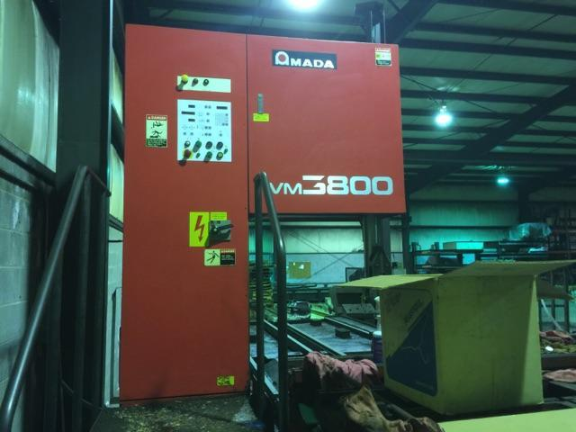 Used Amada VM 3800 Plate / Block Type Vertical Bandsaw, 150