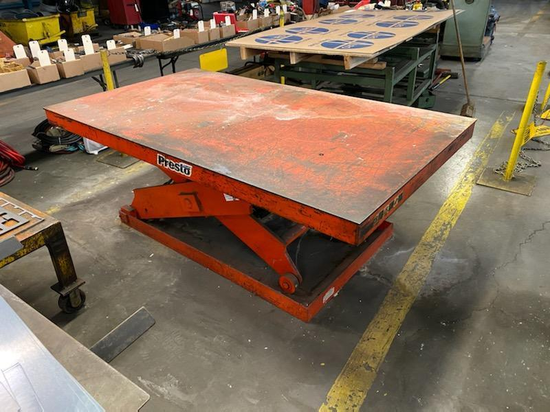 10,000 lb Presto 4' x 8' Hydraulic Lift Table