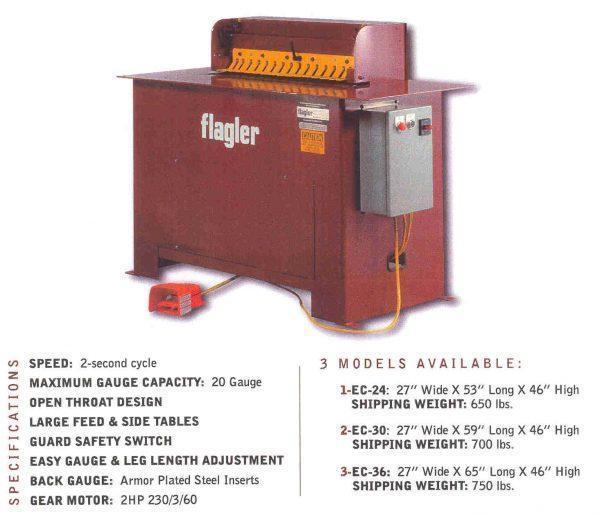 "Flagler Electric Cleatfolder Machine, Model EC-36, 36"" x 20 ga."