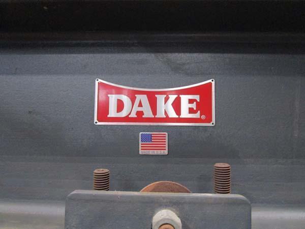 "75 TON DAKE H-FRAME PRESS, Model 9050-75-2, 44"" Between Uprights, 10"" Ram Travel, Ram to Table Max 36"", Ram to Table Min 6"", 24"" Horizontal Ram Head Travel, New 1995."