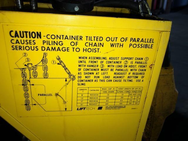 1 TON BUDGIT ELECTRIC CHAIN HOIST