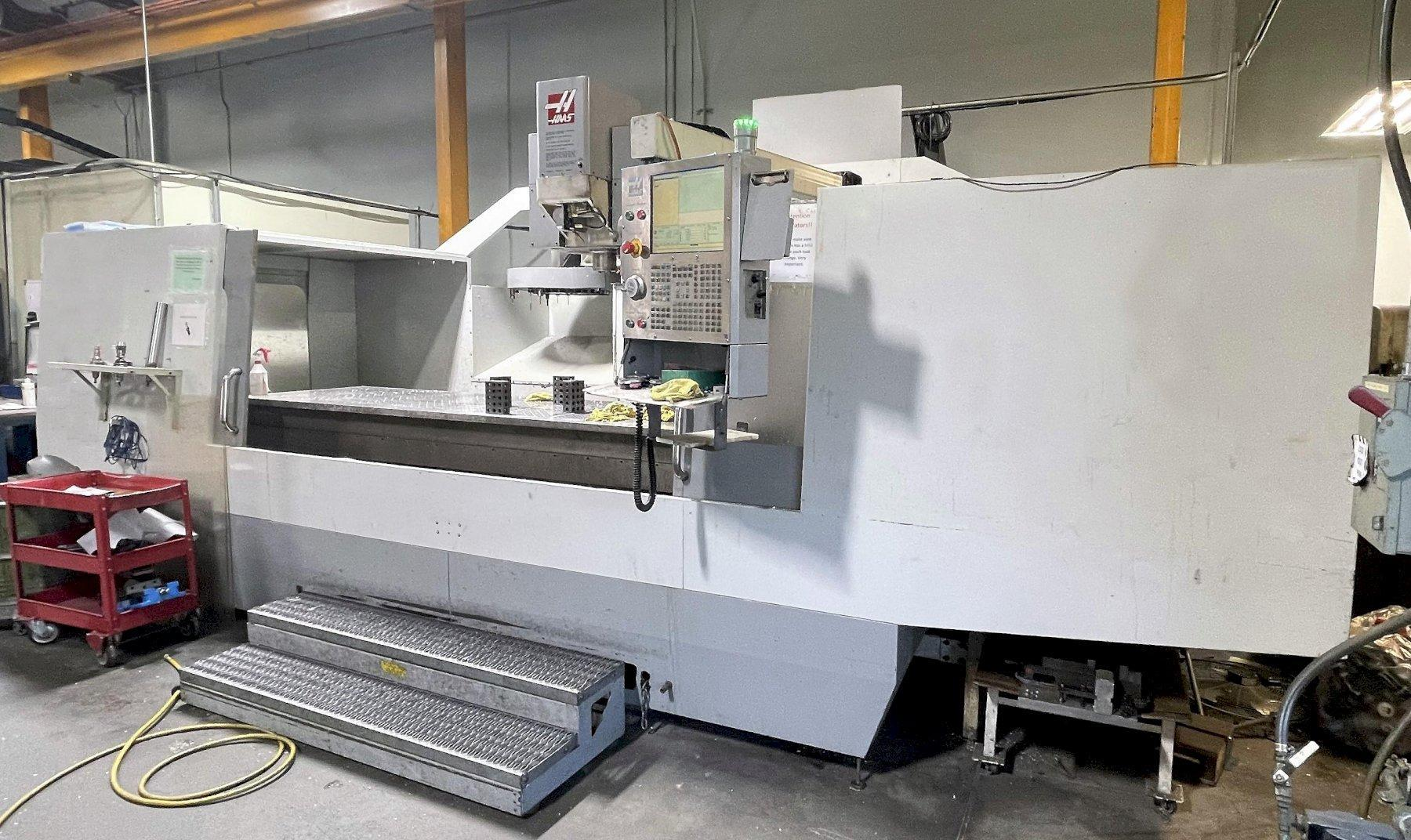 Haas VR-11 5-Axis VMC 1999 / 2010 Haas Control Up Dated , Full 5-Axis, 10,000 RPM Spindle, Coolant Thru Spindle, CT-40 Taper, Rigid Tap, Chip Auger, Linear Scales, and Prog. Coolant.