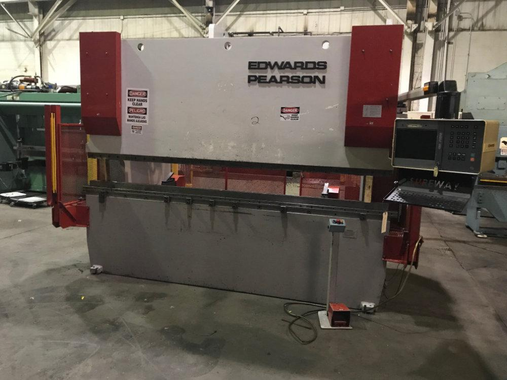 Used EDWARDS / PEARSON 168 TON HYDRAULIC CNC PRESS BRAKE, Model PR4 150/3100, 168 Ton x 10', Stock No. 10475