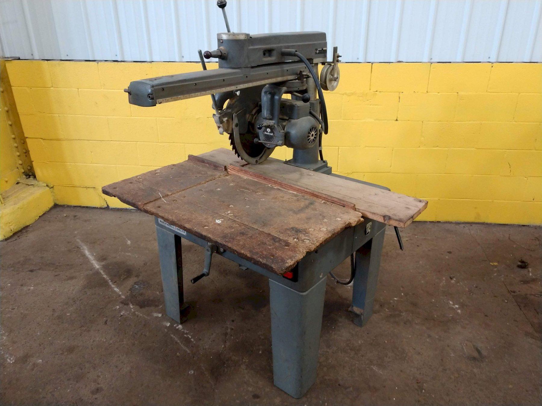 "14"" ROCKWELL RADIAL ARM SAW: STOCK #11098"