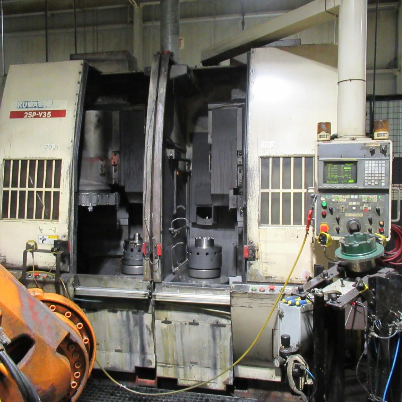 OKUMA HOWA 2SP-V35 VERTICAL TURNING CENTER