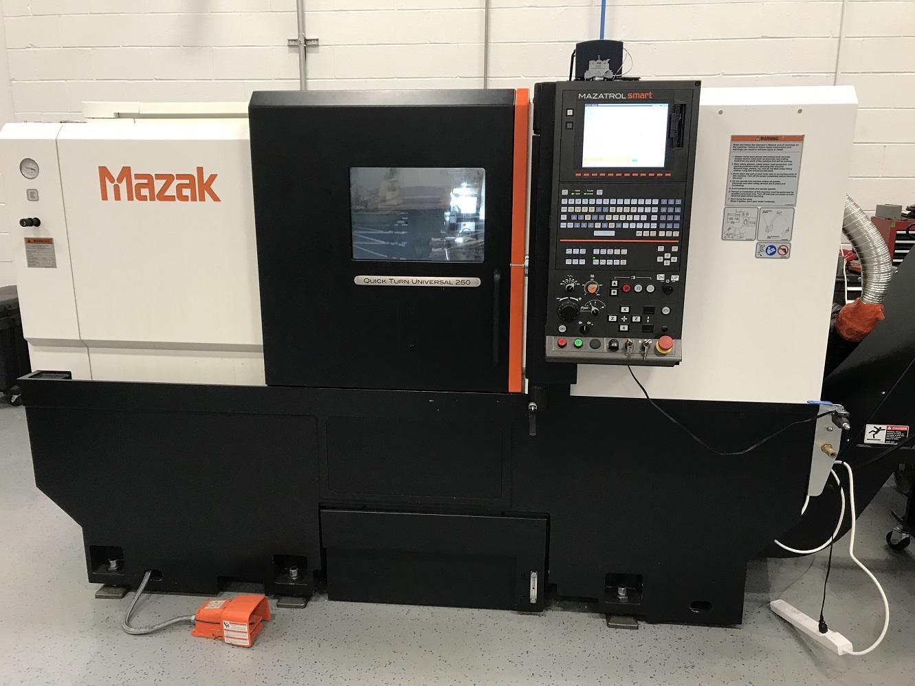 Mazak QTU-250 CNC Lathe, SMART Control, 10″ Chuck, 23 6