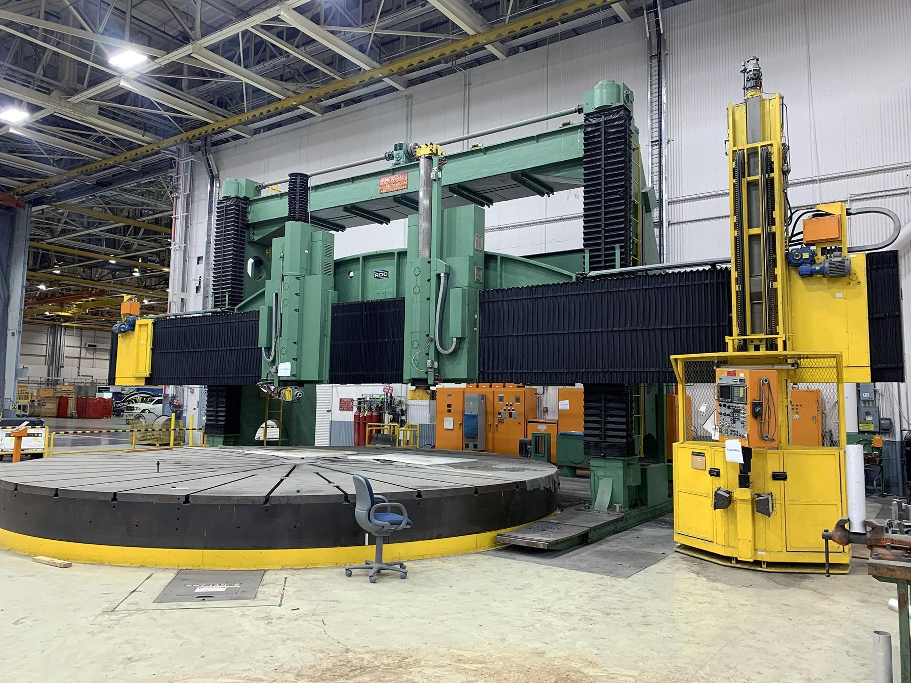 "USED, 504"" (42') RD&D - Dorries Scharmann / NILES CNC VERTICAL BORING MILL WITH LIVE TOOL"